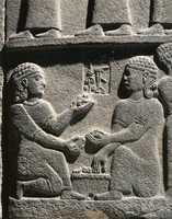 Hittite civilization, 9th century b.C. Relief depicting a ba