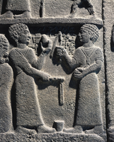 Hittite civilization, 9th-8th century b.C. Relief portraying