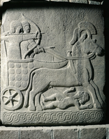 Hittite civilization, 8th century b.C. Relief in basalt depi