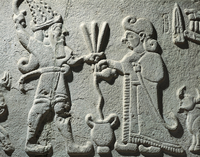 Hittite civilization, 8th century b.C. Relief depicting a li