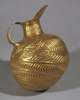 Gold lip jug