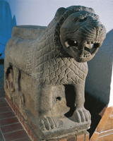 Turkey, Marash, Sculpture representing a lion used to decora