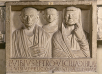Sepulchral relief of L. Vibius and his family