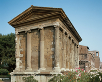Temple of Fortuna Virilis: rear