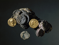 Group of coins, from Ercolano