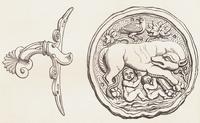 Arte romana in Britannia. Manico di vassoio e piatto raffigu 22244001107| 写真素材・ストックフォト・画像・イラスト素材|アマナイメージズ