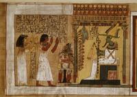 Scene with Kha and his wife Merit adoring Osiris, from the T 22244001130| 写真素材・ストックフォト・画像・イラスト素材|アマナイメージズ