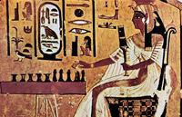 Wall painting from the tomb of Nefertari, Thebes, Ancient Eg 22244001245| 写真素材・ストックフォト・画像・イラスト素材|アマナイメージズ