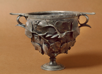 Chalice with embossed ivy leaves