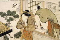 The month of October, ca 1788, shunga by Katsukawa Shuncho (