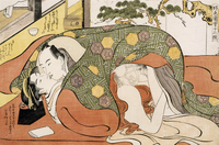 The month of December, ca 1788, shunga by Katsukawa Shuncho
