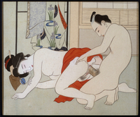 Scene erotique - estampe japonaise