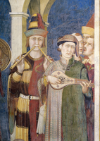 Investiture of Saint Martin - detail (pipe and lute players)