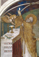 Saint Martin and the Miraculous Mass - detail (raising of th