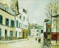 Utrillo, Maurice (1883-1955). Place de Terre , Montmartre. 1939-40