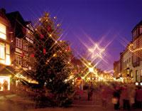 オスター通りとクリスマスツリー