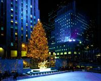 ロックフェラーセンターのクリスマスツリー 22252002828| 写真素材・ストックフォト・画像・イラスト素材|アマナイメージズ