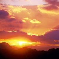 国見ヶ丘から朝日