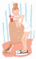 ダイエットをする女性 イラスト