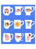 マグカップに家族のイメージ