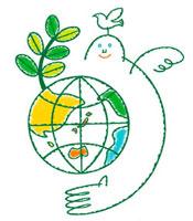 エコロジーイラスト 地球と成長する葉