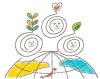 エコロジーイラスト 地球と人の輪