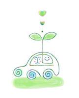車と双葉 エコロジー