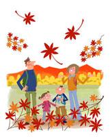 紅葉狩りの家族 22257003059| 写真素材・ストックフォト・画像・イラスト素材|アマナイメージズ