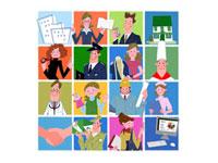 いろいろな職業の人々 22257003084| 写真素材・ストックフォト・画像・イラスト素材|アマナイメージズ