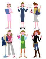 いろいろな職業の女性達 22257003085| 写真素材・ストックフォト・画像・イラスト素材|アマナイメージズ