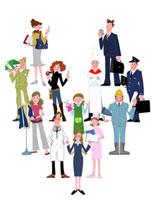 いろいろな職業の人々 22257003086| 写真素材・ストックフォト・画像・イラスト素材|アマナイメージズ