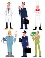 いろいろな職業の男性達 22257003087| 写真素材・ストックフォト・画像・イラスト素材|アマナイメージズ