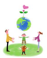 家族とエコロジーのイメージ