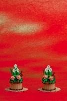 ペーパークラフトで作った門松