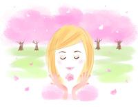 春の乙女 22257003202| 写真素材・ストックフォト・画像・イラスト素材|アマナイメージズ