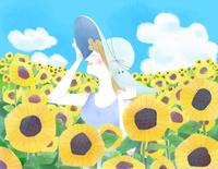 夏の乙女 22257003203| 写真素材・ストックフォト・画像・イラスト素材|アマナイメージズ