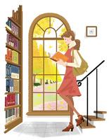 秋の女性 22257003207| 写真素材・ストックフォト・画像・イラスト素材|アマナイメージズ
