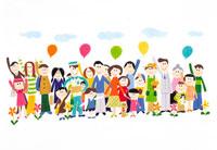 集まった人々 イラスト 22276001894| 写真素材・ストックフォト・画像・イラスト素材|アマナイメージズ