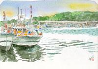 港町と漁師