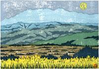 ふるさと風景版画の春 22276006003| 写真素材・ストックフォト・画像・イラスト素材|アマナイメージズ