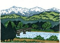 ふるさと風景版画の川