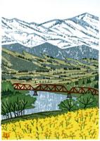 ふるさと風景版画の春
