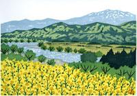 ふるさと風景版画の春 22276006027| 写真素材・ストックフォト・画像・イラスト素材|アマナイメージズ