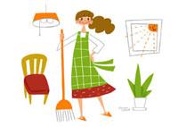 主婦の掃除イメージ