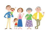 三世代家族白バック