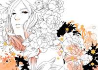 花と女性 22276006287| 写真素材・ストックフォト・画像・イラスト素材|アマナイメージズ