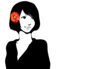 花と女性 22276006291  写真素材・ストックフォト・画像・イラスト素材 アマナイメージズ