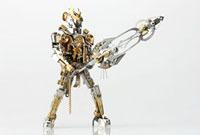 大剣を持ったヒーローのロボット