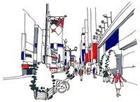 銀座中央通り 1丁目から4丁目に向かって 22276006851| 写真素材・ストックフォト・画像・イラスト素材|アマナイメージズ