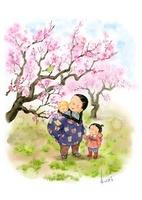 梅の木と親子